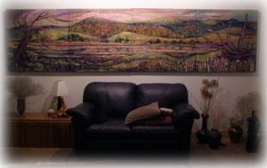 Painting above couch