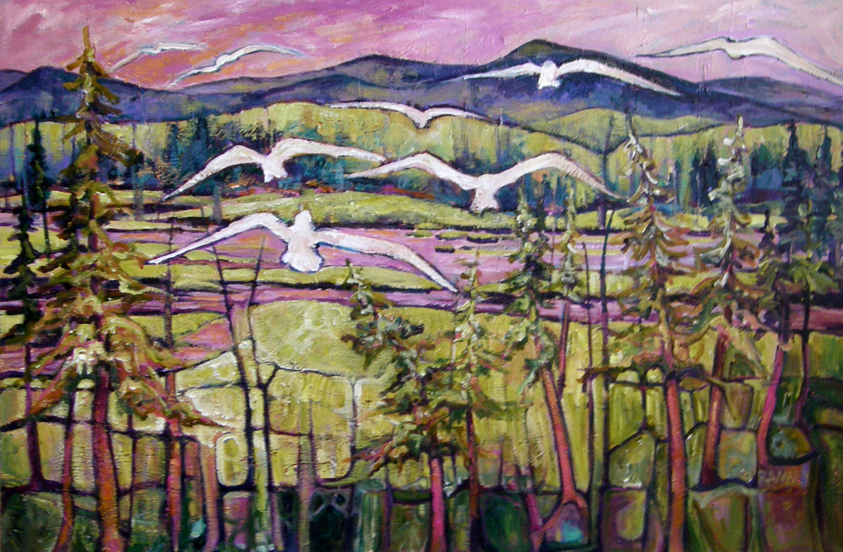 Wings in a Pink Sky